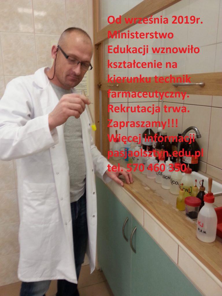Wznowienie kształcenia na kierunku technik farmaceutyczny